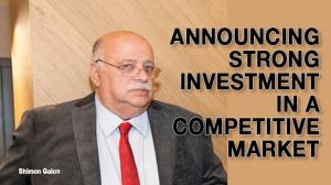 Announcing strong investment in a competitive market 1