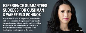 Experience guarantees success for Cushman & Wakefield Echinox 1