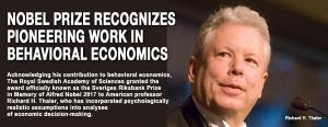 Nobel Prize recognizes pioneering work in behavioral economics 1