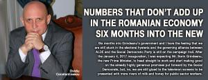 Numbers that don't add up in the Romanian economy six months into the new government 1